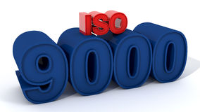 ISO 9000 royalty-vrije illustratie
