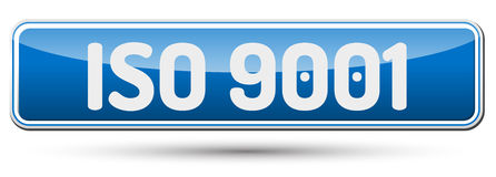 ISO 9001 - Abstract beautiful button with text. Stock Photography