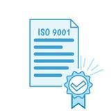 ISO 9001 bescheinigung Stockfotografie