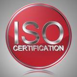 ISO-Bescheinigungsaufkleber Stockfotos