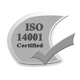 ISO14001 bestätigte Ikonen- oder Symbolbildkonzeptdesign für busin Stockbilder