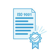 ISO 9001. Certificate Stock Photography