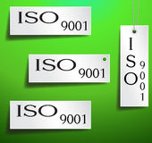 Iso Certification Tag. Iso tag certification white color stock illustration