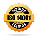 Iso 14001 certified gold seal Stock Photography