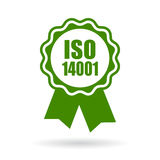 Iso 14001 certified green icon Royalty Free Stock Images
