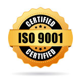 Iso 9001 certified icon Stock Images