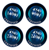 ISO 14001 9001 27001 22001 Certified Logo Royalty Free Stock Image