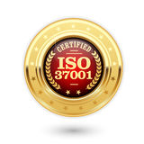 ISO 37001 certified medal - Anti bribery management Stock Photos