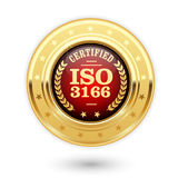 ISO 3166 certified medal - country codes. Seal Stock Photo
