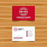 ISO 14001 certified sign. Certification stamp. Royalty Free Stock Photography