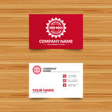 ISO 9001 certified sign. Certification stamp. Royalty Free Stock Photo