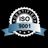 ISO certified silver emblem Royalty Free Stock Photography