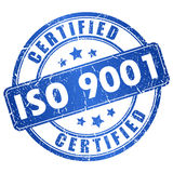 Iso 9001 certified. Vector icon Stock Photo