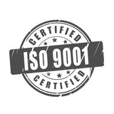 ISO 9001 certified vector stamp Royalty Free Stock Photo
