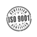 ISO 9001 certified vector stamp Royalty Free Stock Image