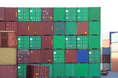 ISO-containers Royalty-vrije Stock Fotografie