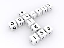 ISO de la calidad de las ventas en crucigrama ilustración del vector