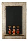 Iso de madeira recuperado quadro do quadro dos gatos do amor dos Valentim do vintage Fotos de Stock