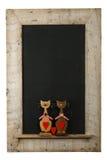 Iso de madeira recuperado quadro do quadro dos gatos do amor dos Valentim do vintage Foto de Stock