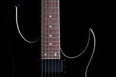 Iso della siluetta della chitarra elettrica Immagini Stock Libere da Diritti