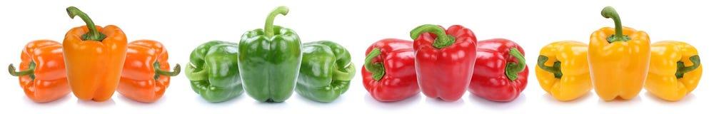 Iso di verdure dell'alimento dei peperoni del peperone dolce delle paprica variopinte della paprica Immagine Stock
