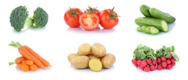 Iso di verdure dell'alimento delle patate del cetriolo dei pomodori delle carote delle verdure Fotografia Stock Libera da Diritti
