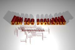 9001:2015 ISO DIN - изменение нормы бесплатная иллюстрация