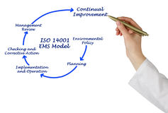 ISO 14001 EMS Model Royalty Free Stock Images