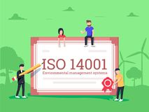 ISO 14001 environmental management system certification standard compliance Royalty Free Stock Images