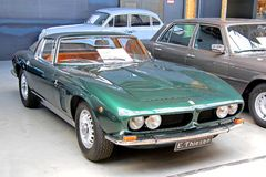 Iso Grifo GL365. BERLIN, GERMANY - AUGUST 12, 2014: Retro italian sports car Iso Grifo GL365 in the museum of vintage cars Classic Remise Royalty Free Stock Photo