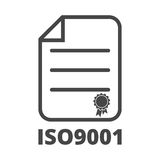 Iso 9001 icon Royalty Free Stock Photography