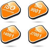 ISO-Ikonen oder Tasten Lizenzfreie Stockfotos