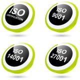 ISO-Ikonen oder Tasten Stockfoto