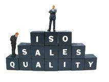 iso-kvalitetsförsäljningar Arkivbilder