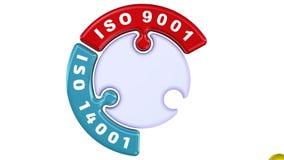ISO 9001, ISO 14001, ISO 22000 La marca de verificación bajo la forma de rompecabezas libre illustration