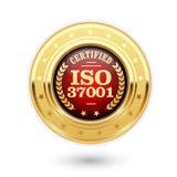 ISO 37001 poświadczał medal - Anty łapówkarstwa zarządzanie Zdjęcia Stock