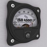 ISO 45001 Procent urzeczywistnienie wskaźnik ilustracja wektor