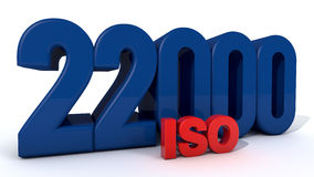 ISO 22000. Quality control certificate Royalty Free Stock Images