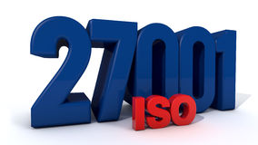 ISO 27001 royalty free illustration