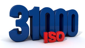 ISO 31000. Quality control certificate Stock Photos