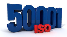 ISO 50001. Quality control certificate Royalty Free Stock Images