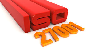 ISO 27001. Quality control certificate Stock Photography