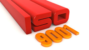 ISO 9001. Quality control certificate Royalty Free Stock Photo