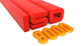 ISO 9000. Quality control certificate Royalty Free Stock Photography