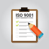 ISO 9001 quality management systems certification standard international compliance task check list target. Vector Royalty Free Stock Image