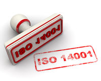 ISO 14001. Seal and imprint Royalty Free Stock Photo