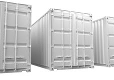 ISO Shipping Containers Stock Photos