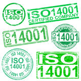ISO 14001 Stamps Stock Images
