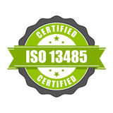 ISO 13485 standard certificate badge - medical devices Royalty Free Stock Image
