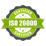 ISO 26000 standard certificate - Social responsibility Stock Images